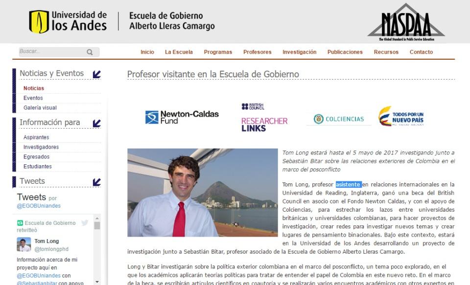 Los Andes visit